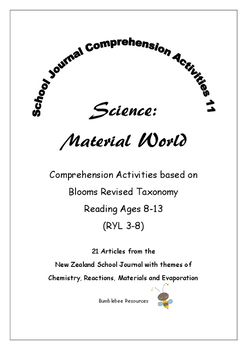 NZ School Journal Comprehension Pack 11: Science Material World