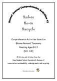 NZ School Journal Comprehension Pack 12: Reduce, Reuse, Recycle