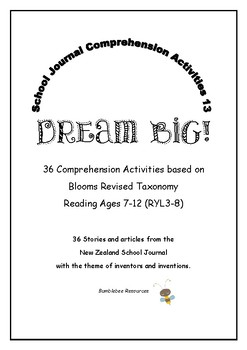 NZ School Journal Comprehension Pack 13: Dream Big!