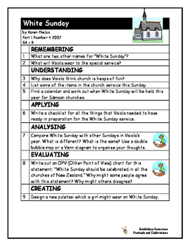 NZ School Journal Comprehension Pack 5: Festivals and Celebrations