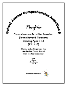 NZ School Journal Comprehension Pack 6: Pasifika