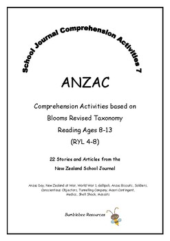 NZ School Journal Comprehension Pack 7: ANZAC