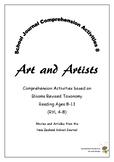 NZ School Journal Comprehension Pack 8: Art and Artists