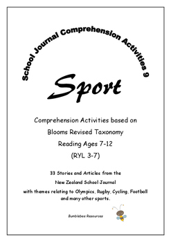 NZ School Journal Comprehension Pack 9: Sport