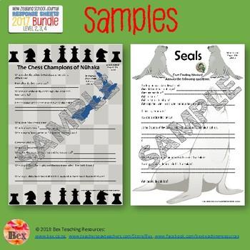 NZ School Journal Responses - 2016 Bundle - L2-4