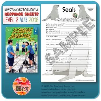NZ School Journal Responses - Level 2 August 2016