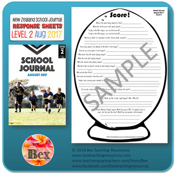 NZ School Journal Responses - Level 2 August 2017