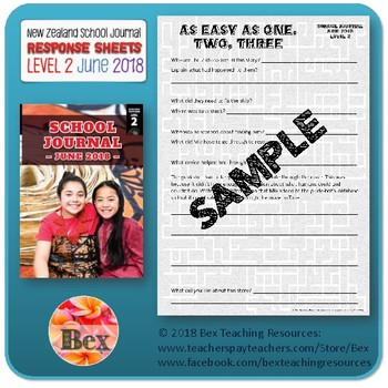 NZ School Journal Responses - Level 2 June 2018