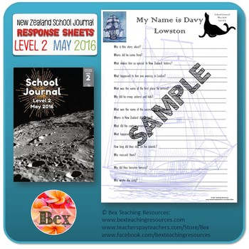 NZ School Journal Responses - Level 2 May 2016