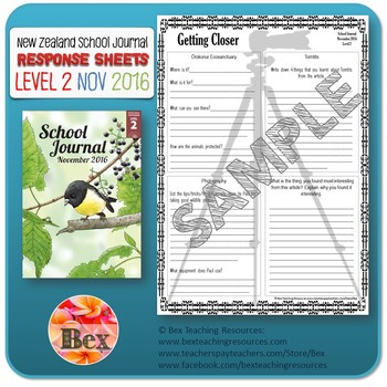 NZ School Journal Responses - Level 2 November 2016
