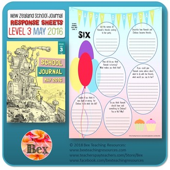 NZ School Journal Responses - Level 3 May 2016