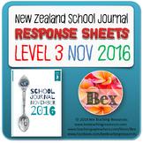 NZ School Journal Responses - Level 3 November 2016