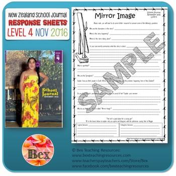 NZ School Journal Responses - Level 4 November 2016