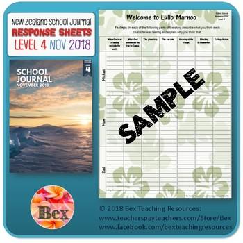 NZ School Journal Responses - Level 4 November 2018