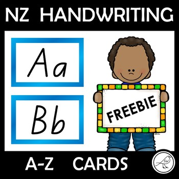 NZ handwriting font - A to Z cards