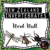 NZ invertebrate word wall