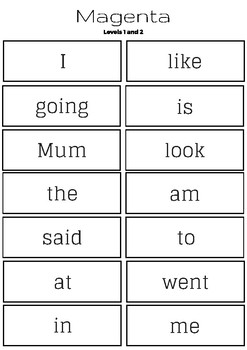NZ sight words literacy centre printable