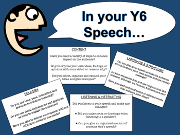 NZC - Year 6/7 Speech Checklist