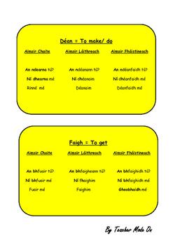Na Briathra Neamhrialta Irish Irregular Verbs