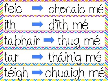Na Briathra Neamhrialta - Irregular Irish Verbs