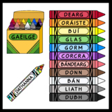 Crayons in Irish (over 150 images)