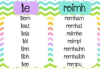Na Forainmneacha Réamhfhoclacha - Prepositional Pronouns as Gaeilge