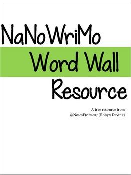 NaNoWriMo Word Wall