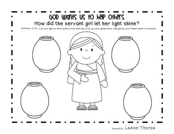 Naaman and the Servant Girl Bible Activity
