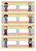 Naamkaartjes  jongens  blanco  -  Polka  dots  multi