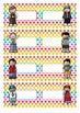 Naamkaartjes  meisjes  +  jongens  blanco  -  Polka  dots  multi