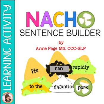 Nacho Sentence Grammar Activity Using Adjectives and Adverbs