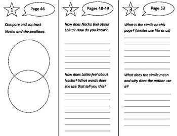 Nacho and Lolita Trifold - Treasures 3rd Grade Unit 4 Week 2