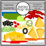 Nachos Supreme Clipart {A Hughes Design}