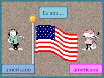 Nacionalidades (Nationalities in Portuguese) power point