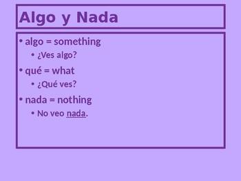 Nada Nadie Nunca Spanish Negatives PowerPoint