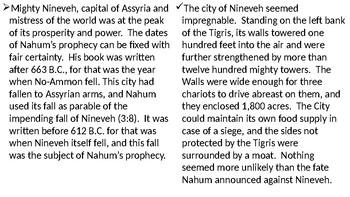 Nahum Power Point Notes