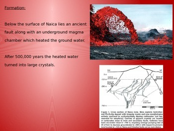 Naica Crystal Caves - Power Point - History Facts 10 Slides