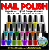 Nail Polish Clip Art for Personal and Commercial Use