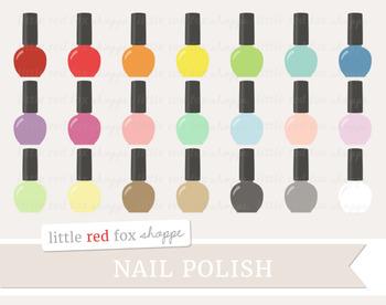 Nail Polish Clipart; Makeup, Manicure, Cosmetics