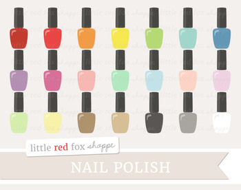 Nail Polish Clipart; Makeup, Manicure, Cosmetics