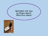 Nail Polish Gift Tags