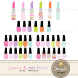 Nail Polish and Lipstick clipart