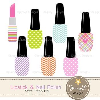 Nail Polish and Lipstick clipart