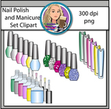 Nail Polish and Manicure Set Clipart