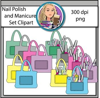 Nail Polish and Manicure Set Clipart