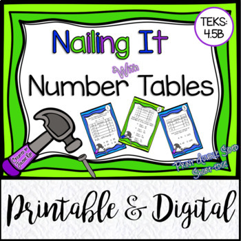 Nailing It with Number Tables: TEKS 4.5B
