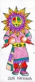 Native American Kachina Doll Drawings