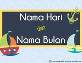 Nama Hari dan Bulan (days and months in Indonesian - pocke