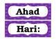 Bahasa Melayu (Malay) - Nama-nama Hari