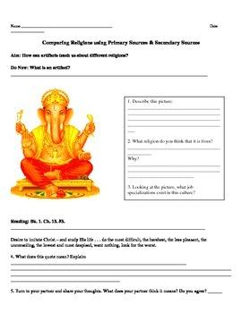 Namaste & Amen: Worksheet Comparing Buddhism and Monotheistic Religion